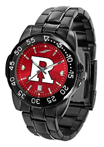 Collegiate Fantom Sport Anochrome Premium Mens Watch with Gunmetal Band (Rutgers)