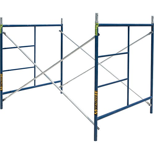 Metaltech SAFERSTACK Single Lift Scaffold Set - 5Ft. x 5Ft. x 7Ft., Model# M-MFS606084