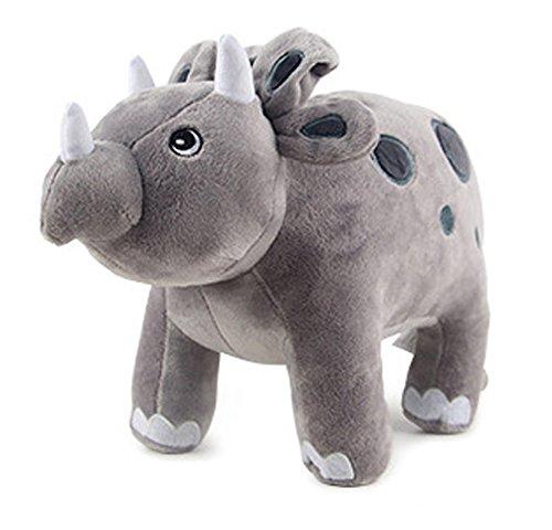 HugeHug Jurassic Dinosaur Plush Stuffed Toy for Kids 15 inches, for Boys Girls Birthday Gifts (Triceratops)]()