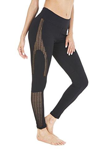 Running Stretch Vest - Queenie Ke Women Power Tech Mesh High Waist Yoga Leggings Running Tights Size S Color Black Pro