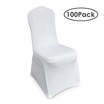 Femor Stuhlhussen Weiss 100 Stuck Stuhlhussen 40x20x25 Cm Acelectronic Stuhluberzug Moderne Stuhl Abdeckung Fur Hochzeiten Und Feiern