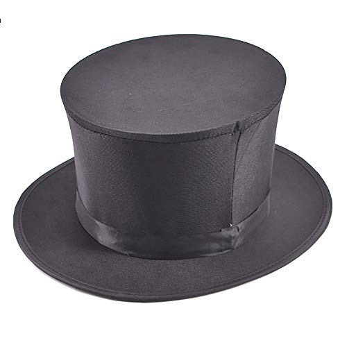 Enjoyer Folding Top Hat-Magician's Collapsible Black Top Spring Hat Magic Trick Essential Prop Stage Magic Gimmick Magician Accessories