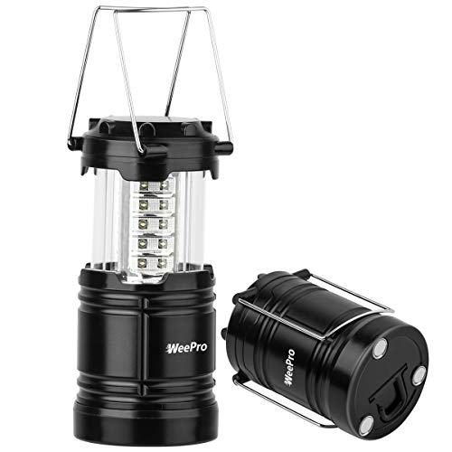 WeePro Led Camping Lantern Flashlights Outdoor Waterproof LED Emergency Lantern - Indoor Power Outage Light for Hurricanes - Tent Lantern Lights for Camp & Hiking, Portable & Collapsible