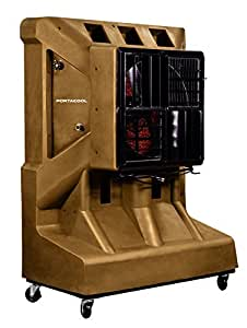 Portacool PACJS2400 Jet Stream 2400 Portable Evaporative Cooler with 2000 Square Foot Cooling Capacity, 7500 CFM, Sienna