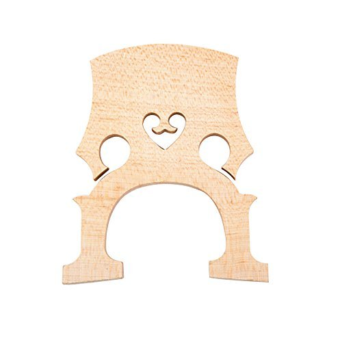 Andoer 1pc Replacement Part 3/4 Maple Bridge for Double Bass Contrabass Upright Bass