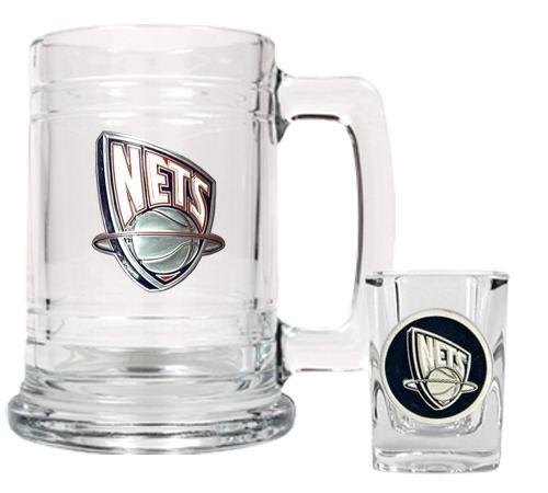 NBA Brooklyn Nets Boilermaker Set - Primary Logo