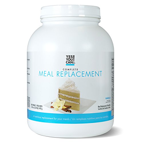 Yes You Can! Complete Meal Replacement, Up to 2 Meals a Day, Helps Lose Weight - Sustituto de Comida Completo con Proteína para Perder Peso 30 Servings, 3.24 Lb - (1470 g), Vanilla Flavor