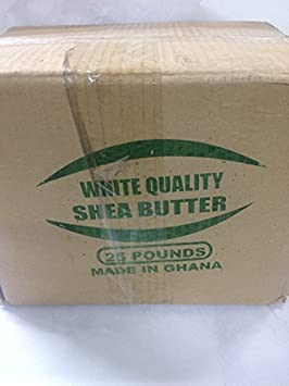 afrimports African Shea Butter 100 Natural, White, 10 lb.
