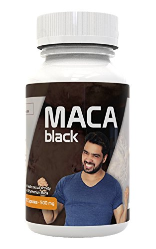 Black Maca Capsules for Men – Gelatinized – Strongest – From Perú – Energy, Libido Booster, Vitality, Testosterone, Endurance, Anti-Stress – 1000 mg p/s – Non GMO – Kosher certified