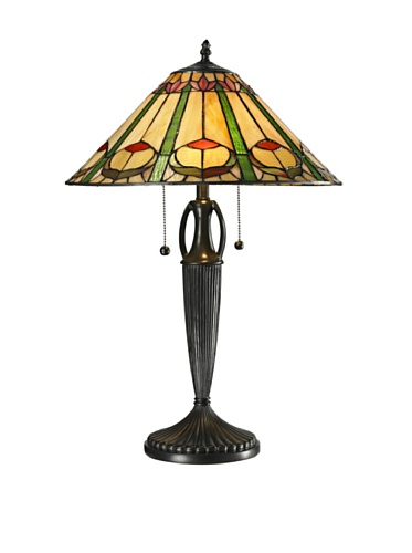 Copper Feather Table Lamp - Dale Tiffany STT13018 Quill Table Lamp