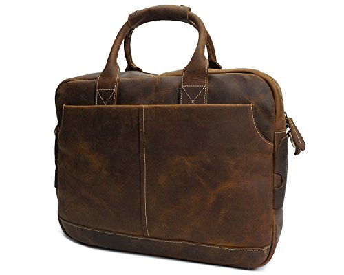 E Messenger Retro Brass Laptop Uomo Leather Horse Borsetta Borsa Borse Per Crazy Ghc I751qxn