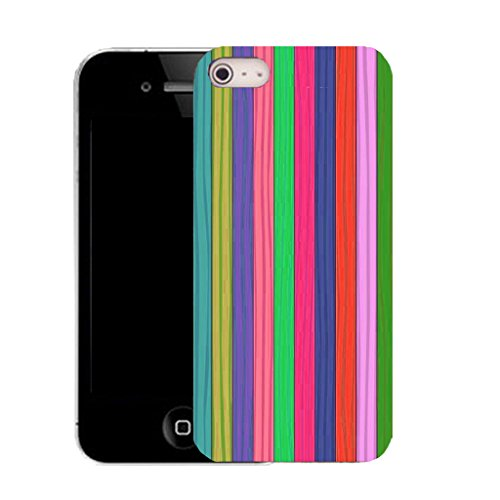 """Mobile Case Mate IPhone 6 4.7"""" clip on Silicone Coque couverture case cover Pare-chocs + STYLET - RAINBOW STRIPE pattern (SILICON)"""