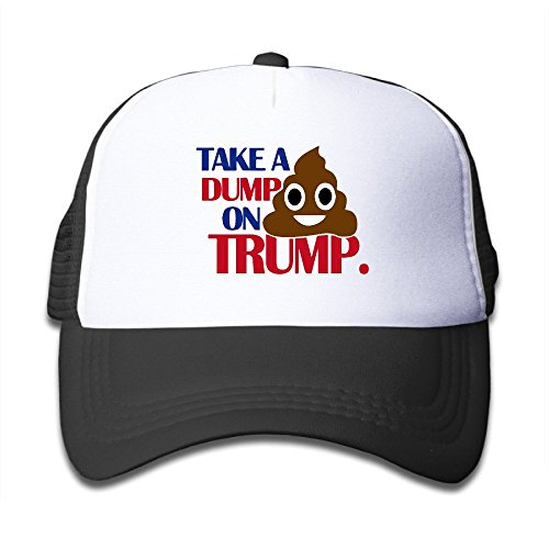 Take A Dump On Trump Anti-Trump 2016 One-Sized Snapbacks Cap For Kids