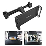 Car Headrest Mount, Tryone Tablet Headrest Holder Compatible with Smartphones/Tablets/Switch 4.7'-10.5', Headrest Posts Width 4.9in-5.9in(Black)