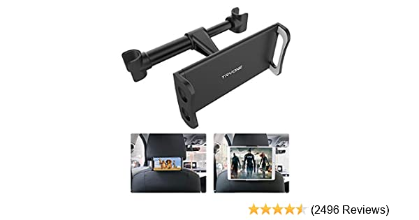 """Car Headrest Mount, Tryone Tablet Headrest Holder Compatible with Smartphones/Tablets/Switch 4.7""""-10.5"""", Headrest Posts Width 4.9in-5.9in(Black)"""