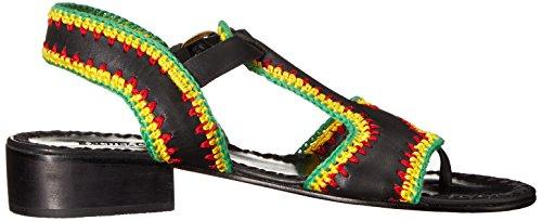 Comey Reggae Rachel Women's Black Sandal Flat Crochet Bays wB1fnax1qO