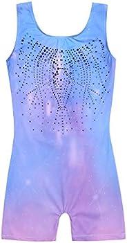 Zaclotre Kid Girls Gymnastic Leotard Sparkly Shiny Diamond Ballet Outfit