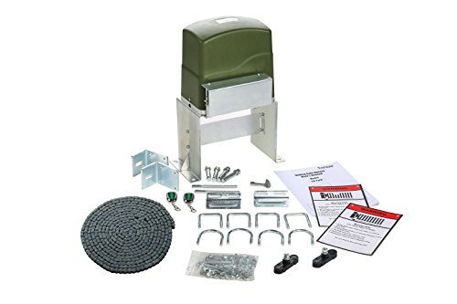 (TOPENS CK700 Automatic Sliding Gate Opener Kit Sliding Gate Motor for Heavy Duty Slide Gates Up to 1600 Pounds and 40 ft, Chain Driven Driveway Security Slide Gate Operator)