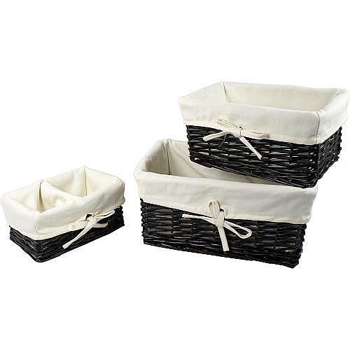 Koala Baby 3-Piece Basket Set - Espresso