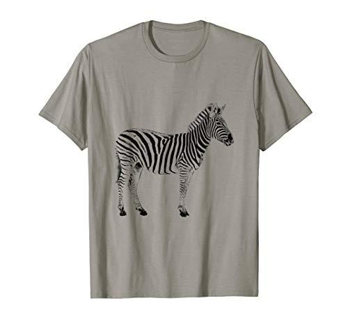 (Zebra Cute T-shirt Animal Pattern Black Print Shirt)