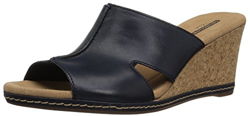 - CLARKS Women's Lafley Mio Platform, Navy Leather, 10 Medium US
