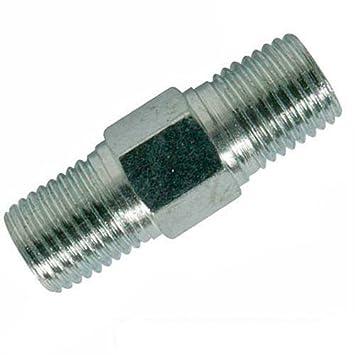Silverline 868632 - Adaptador de doble rosca para aire comprimido, 2 pzas (BSPT 1