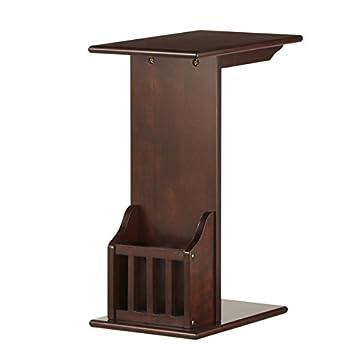 amazon com woodbridge accent magazine rack chairside table