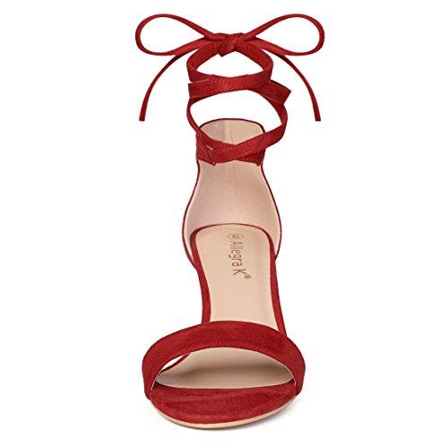 Red up Women's K Allegra Heel Kitten Sandals Lace WwXqw05fP