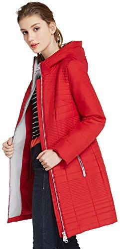 Rosso Manga Large Larga Rojo para ICEbear Mujer Chaqueta zwn05Yxqp