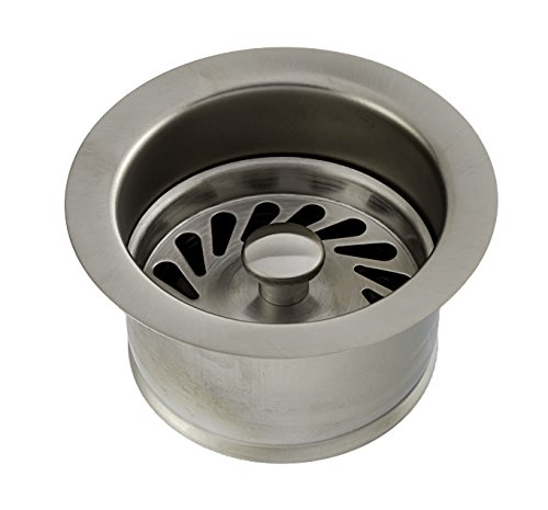 Deluxe Series Deep Metal Disposal Flange/ Stopper for ISE (InSinkErator) - PVD Satin (brushed) Nickel