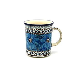 Polish Pottery Mug – Big Straight Sided – Unikat Signature – U408C