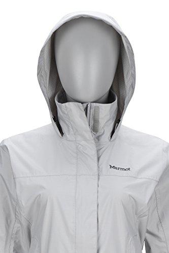 Marmot PreCip Women's Lightweight Waterproof Rain Jacket, Platinum, X-Small by Marmot (Image #6)