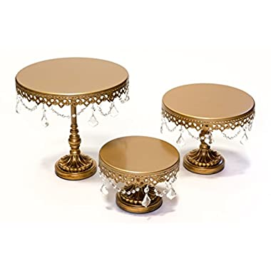 Opulent Treasures Round Cake Plate Stands (Set of 3)