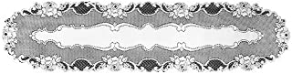 product image for Heritage Lace Vintage Rose 14-Inch by 62-Inch Runner, White