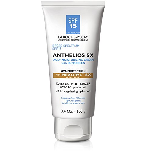 La Roche-Posay Anthelios SX Daily Moisturizer Cream, Face Sunscreen SPF 15 with Mexoryl SX, 3.4 Fl. Oz.