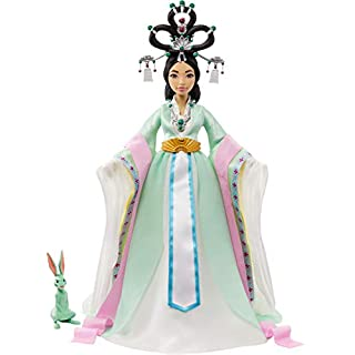 Netflix Over The Moon, Chang'e Collector Doll (14-inch) with Traditional Chinese Gown and Accessories, Includes Jade Rabbit Figure, Great Gift for Ages 6Y+