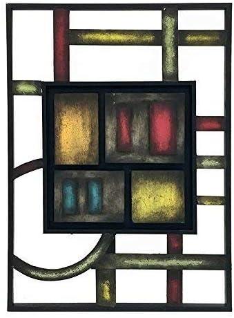 Bellaa 27475 Abstract Metal Wall Art 27″ 27.5″ H x 24″ W Green