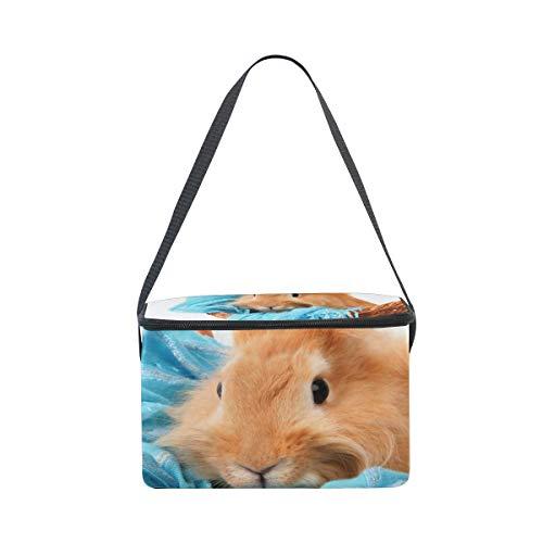hombro bufanda almuerzo azul correa con de de fiambrera cesta conejo Bolsa con en picnic para BaF0q