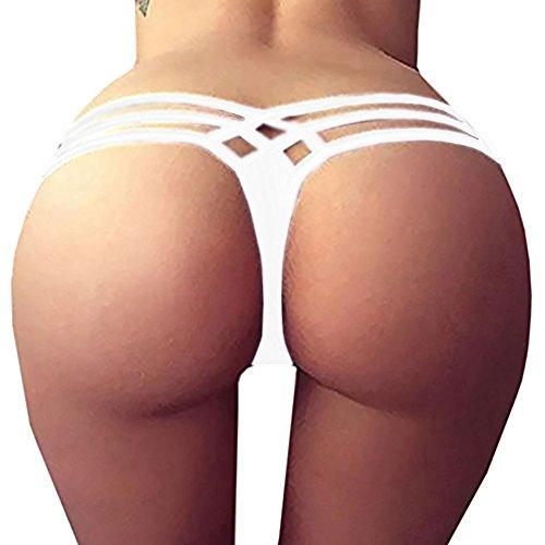 Runcati Womens Sexy Bikini Bottom String Summer Beachwear Micro Thong T (Tiny Bikini Swimwear)