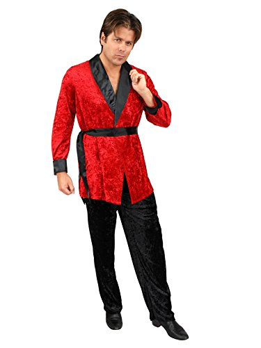 Men X-Lg (46-48 Jacket) Red Costume Smoking Jacket - JACKET ONLY ()