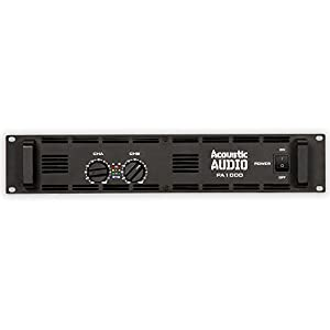 Amazon.com: Acoustic Audio PA1000 Amp Two Channel 1000 Watt Pro ...