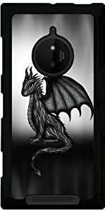 Funda para Nokia Lumia 830 - Negro Belleza Dragón by Pezi Creation