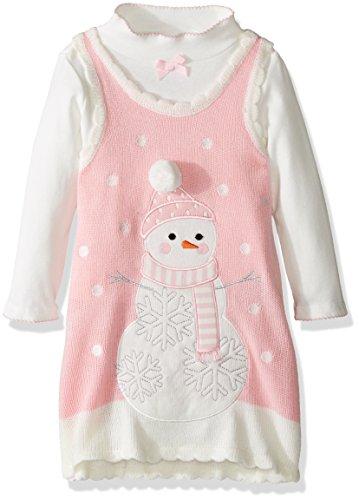 Girls Pink Snowman - 2