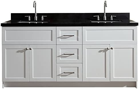 Cool Ariel F073D Ab Vo Wht Hamlet 73 Double Rectangular Sink Home Interior And Landscaping Eliaenasavecom