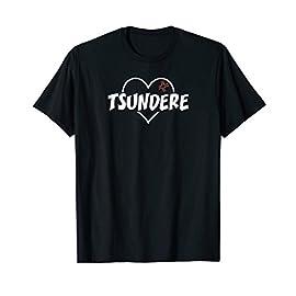 LOVE TSUNDERE Heart T Shirt Funny Otaku Anime Gift