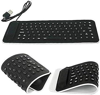 ZzZz Clavier Flexible USB Keyboard au Design Ultra Moderne