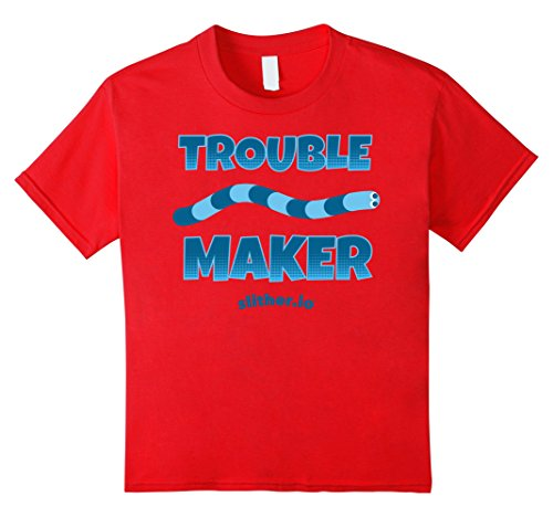 unisex-child Slither.io Trouble Maker Graphic T-Shirt 8 Red