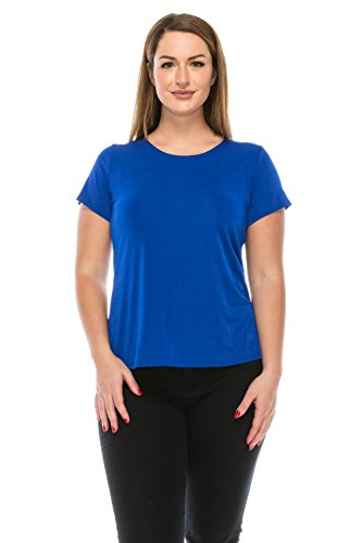 Chicos New Shirt - Jostar Stretchy New Big Top with Short Sleeve in Royal Color in Medium Size