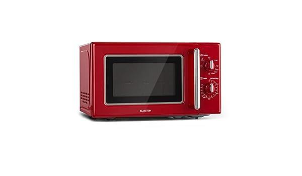 Klarstein Caroline • horno microondas rojo: Amazon.es: Hogar
