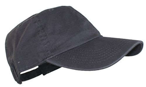 Ted and Jack - Oceanside Solid Color Adjustable Baseball Cap in Charcoal Gray